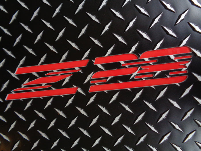 Camaro Z-28  93-02 Black Metal diamond floor mats