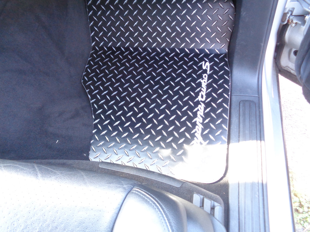 Cayenne, S, Turbo 03-10  Black METAL diamond floor mats Solid aluminum