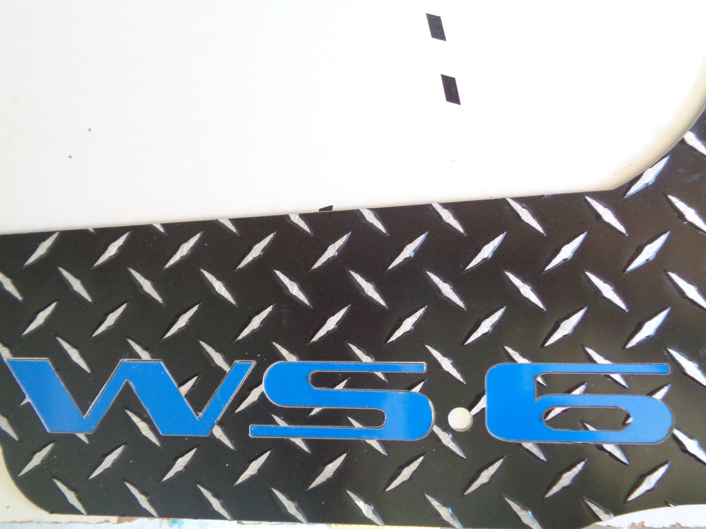 Trans AM WS.6  aluminum floor mats.  Real Metal front rear set