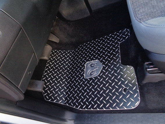 DODGE RAM 2011-2017 Black Diamond plate METAL Floor mats