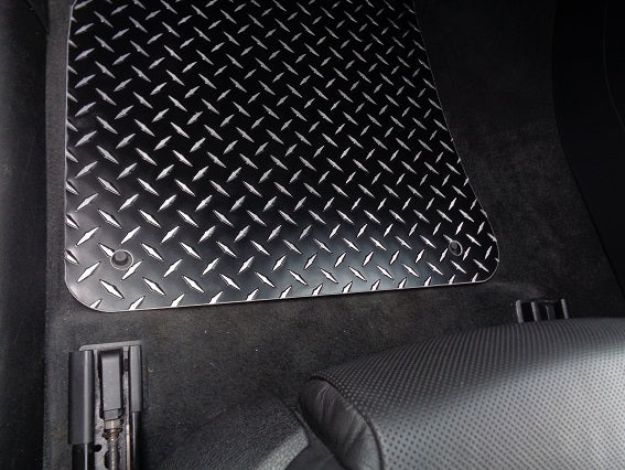 Audi A4 B8 09-16 Black METAL diamond aluminum floor mats