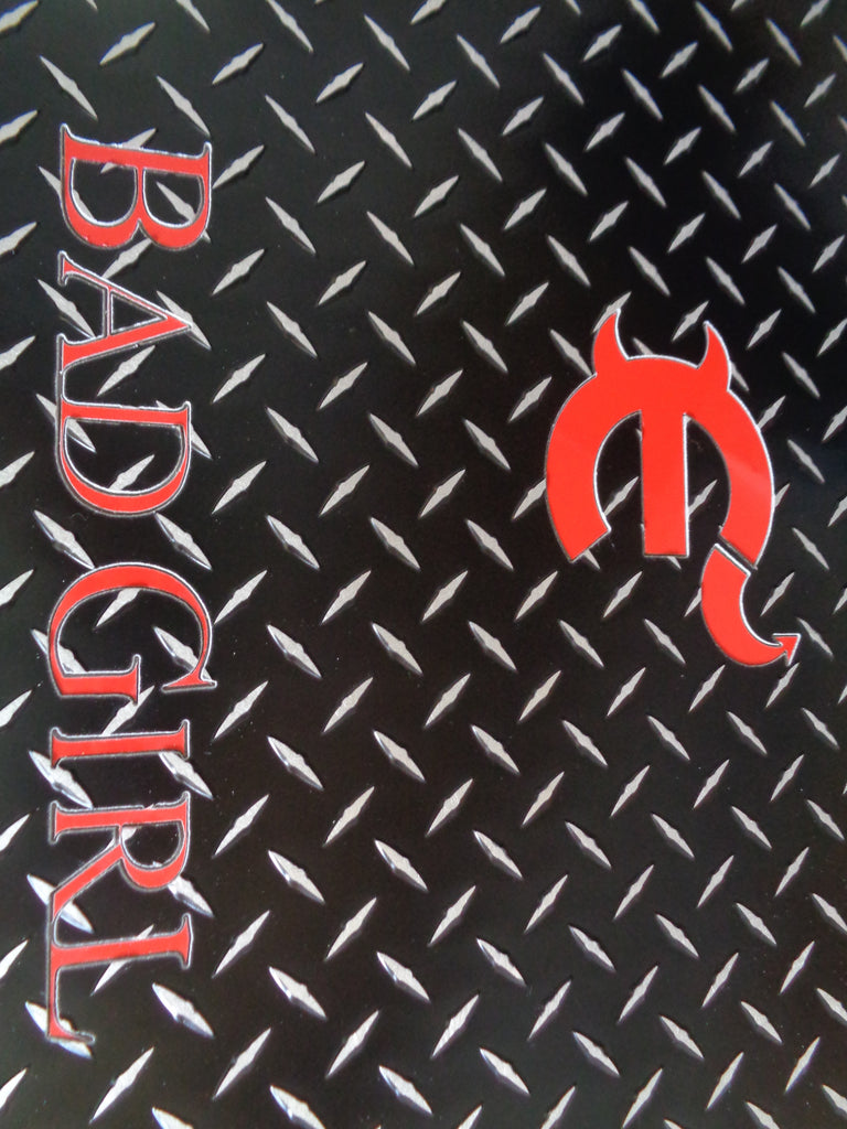 Challenger 11-19   black Metal  diamond aluminum mats  Custom fit front + rear