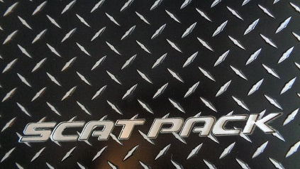 Dodge Charger 11-19  scat pack  black Metal diamond  floor mats  Front & rear set