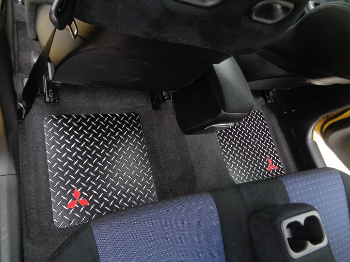 Lancer/EVO 8 & 9  02-07 Black Diamond aluminum floor mats front and rear