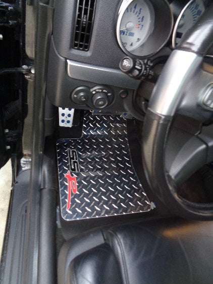 SSR Black Metal diamond aluminum floor mats