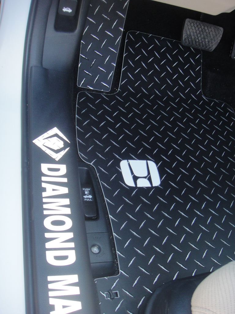 Accord 12-17 Sedan and coupe  Black Metal diamond aluminum floor mats