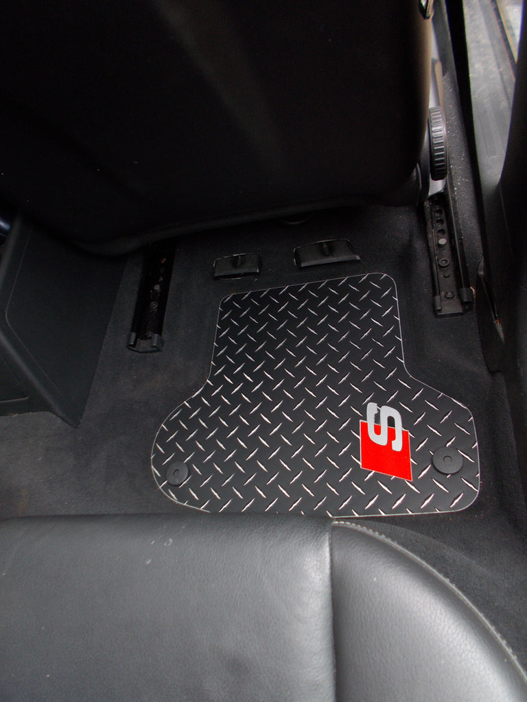 Audi A3  S line  04-12  Black Diamond  aluminum floor mats front and rear