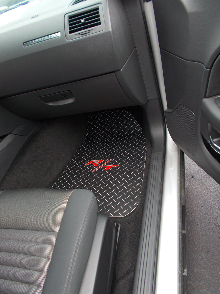 Challenger R/T  11-18  black Metal floor mats   Front and rear set