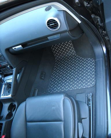 Audi A3 A3 04-12  Black Diamond  aluminum floor mats front and rear