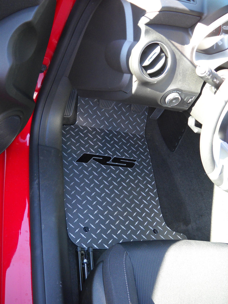 Camaro RS  10-15  aluminum diamond plate floor mats. Real metal