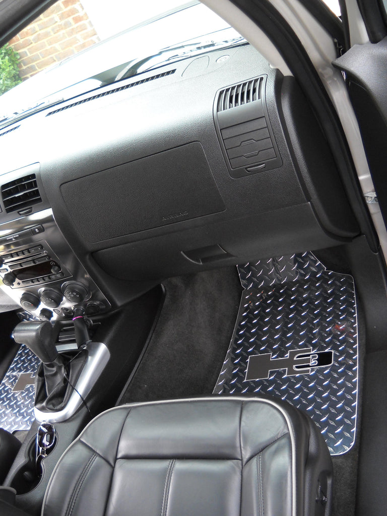 Copy of Hummer H3 H3T 06-10  Polished METAL floor mats front and rear