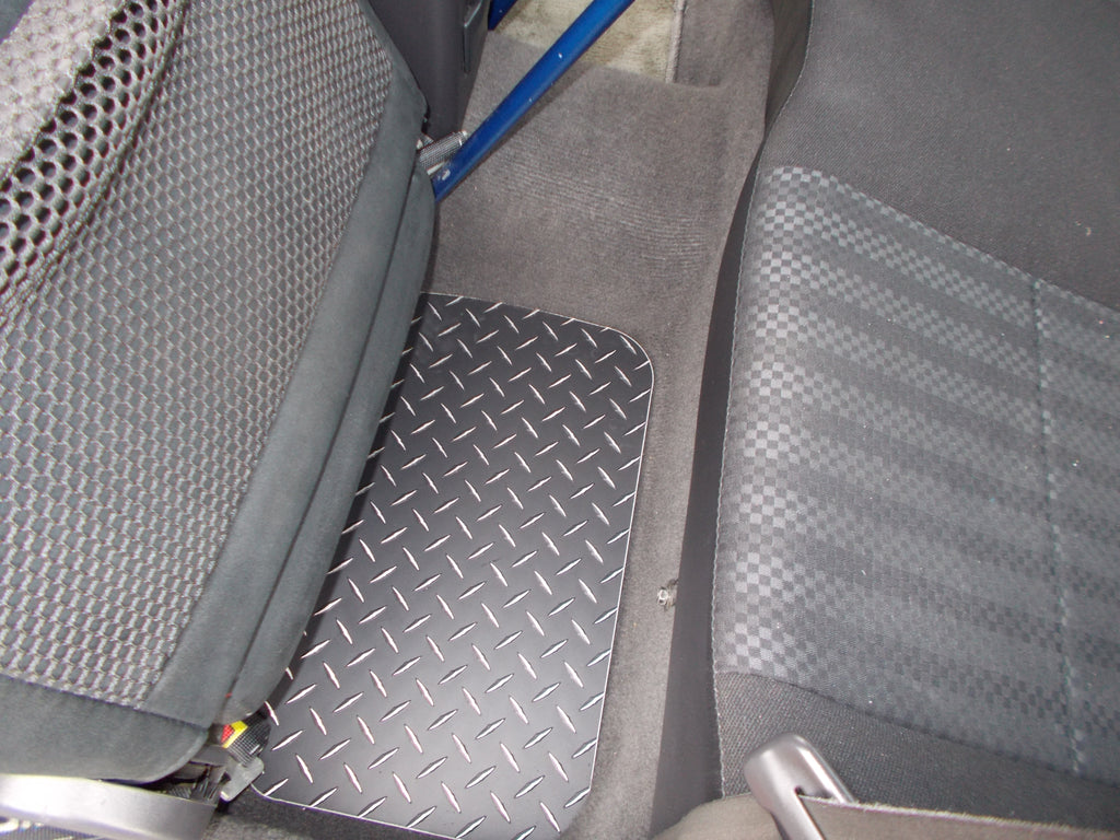 Subaru Impreza  + RS 92-01 Black  Metal diamond aluminum floor mats