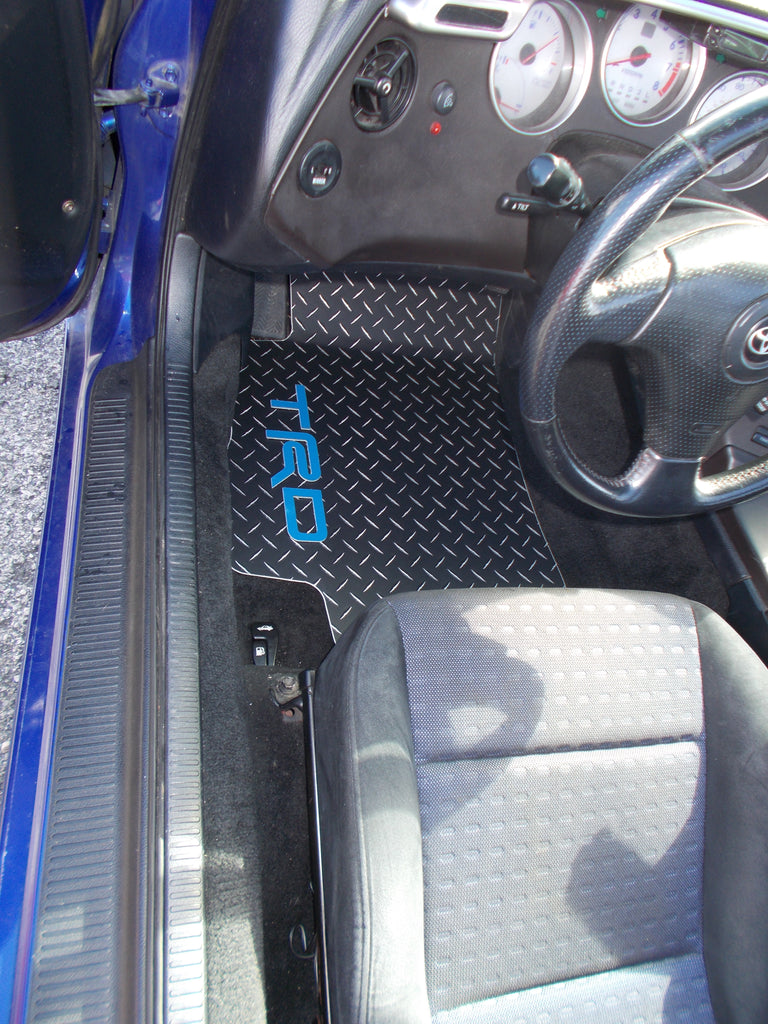 Supra 93-02  Black Aluminum diamond tread plate floor mats