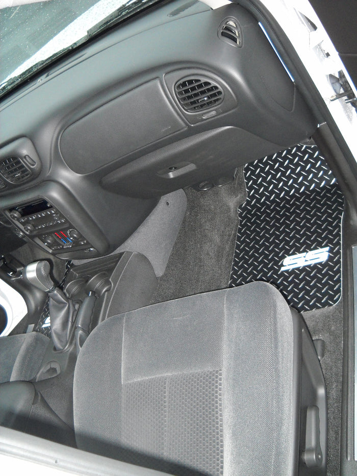 Trail Blazer SS Black Metal diamond floor mats