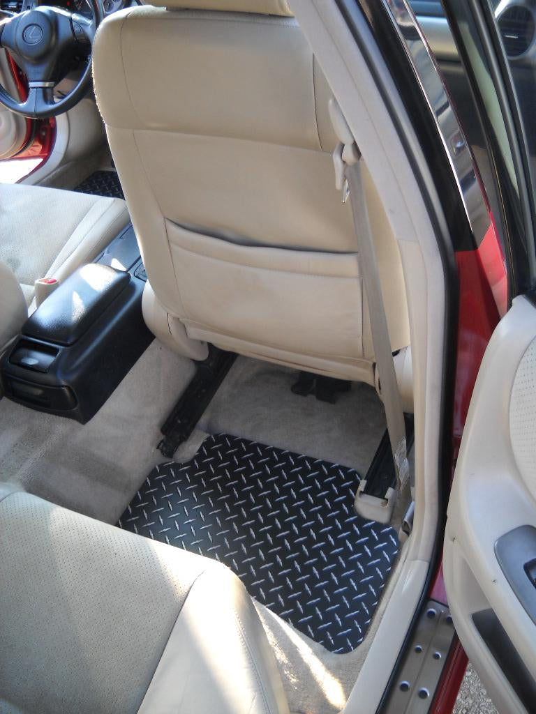 Lexus IS300   98-05  Black Metal diamond floor mats.  Real aluminum diamond plate