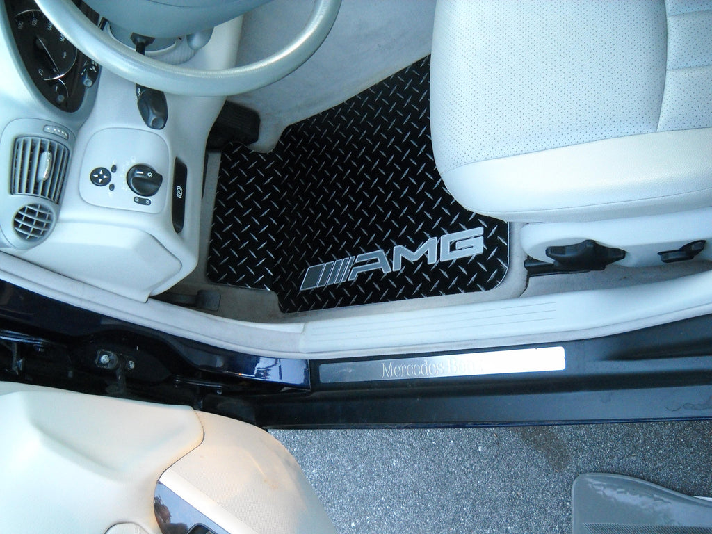Mercedes-Benz  C Class AMG  2001-2007  W203 black Metal diamond aluminum floor  mats