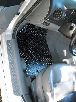 Mazda 6  Speed 6 02-08  Black METAL diamond plate floor mats