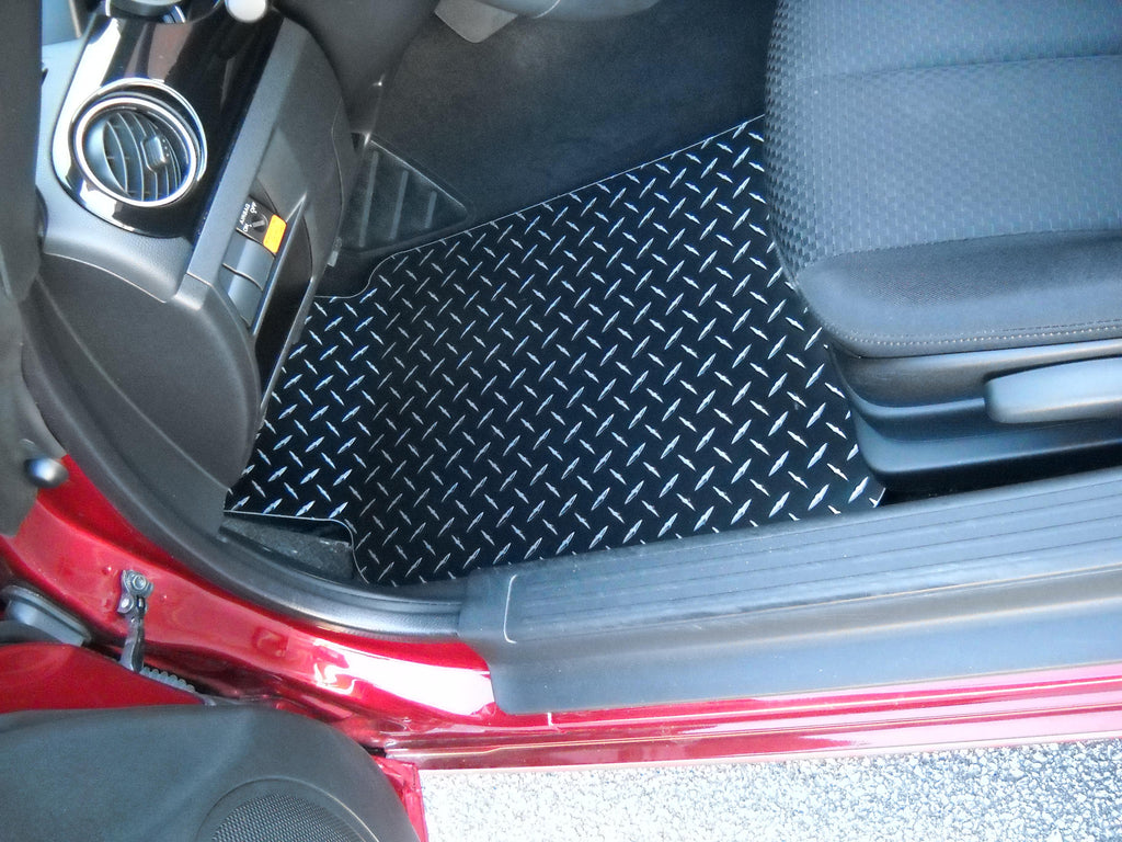 Miata 06-15 Black METAL diamond floor mats