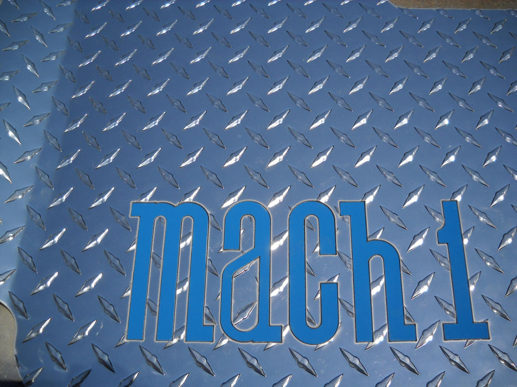 Mustang 93-04 Mach 1 Chrome Polished finish diamond plate mats front and rear