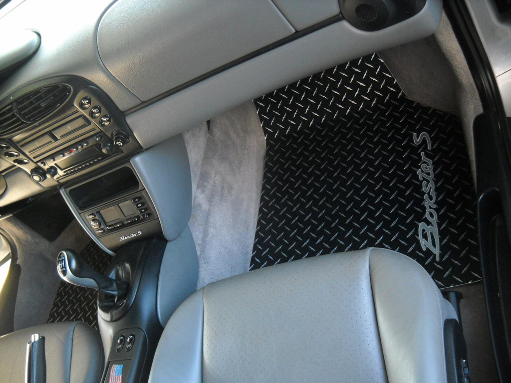 986 Boxster S  96-04 Black METAL diamond mats Solid aluminum