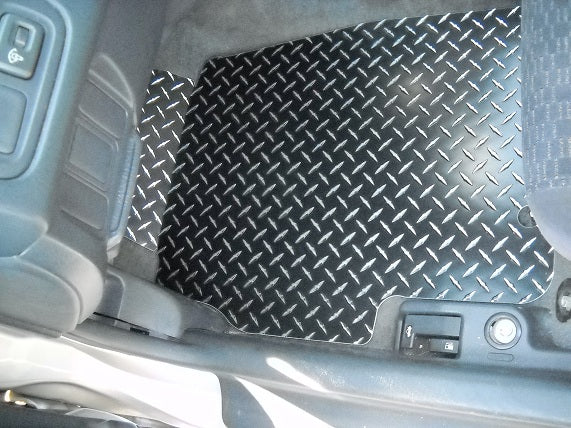 Civic 96-00 coupe Black METAL diamond aluminum floor mats