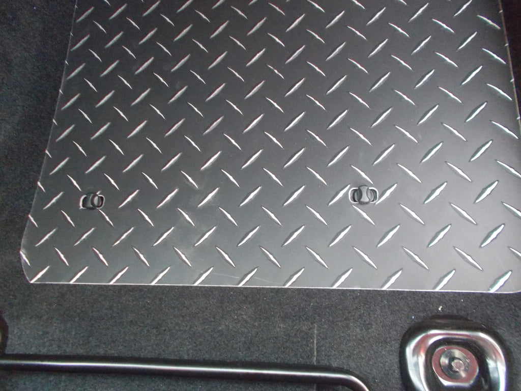 Scion FR-S 2012-2019 & Subaru BRZ Aluminum floor mats.  Black powder coated metal treads