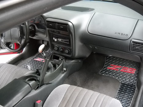 Camaro 93-02 Z28   aluminum floor mats.  Real Metal front rear set