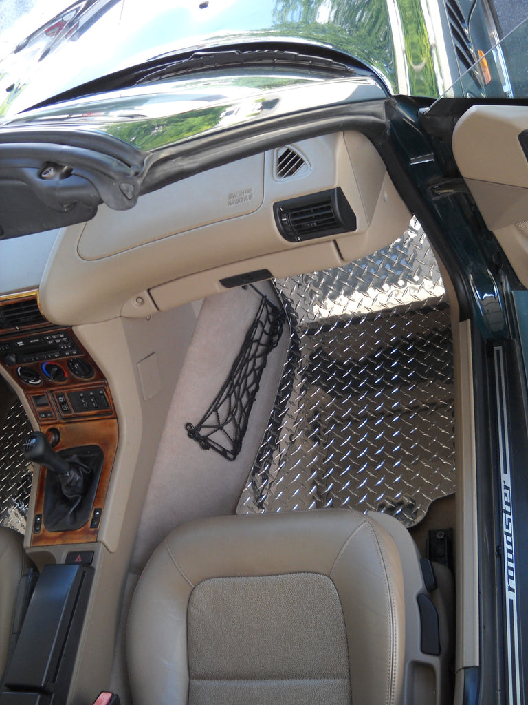 BMW Z3 95-03  aluminum diamond plate  floor mats.