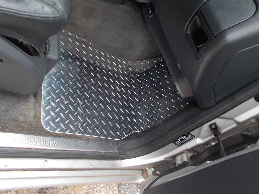 Mercedes-Benz  M ML  Class  98-05 W163  aluminum floor mats real metal
