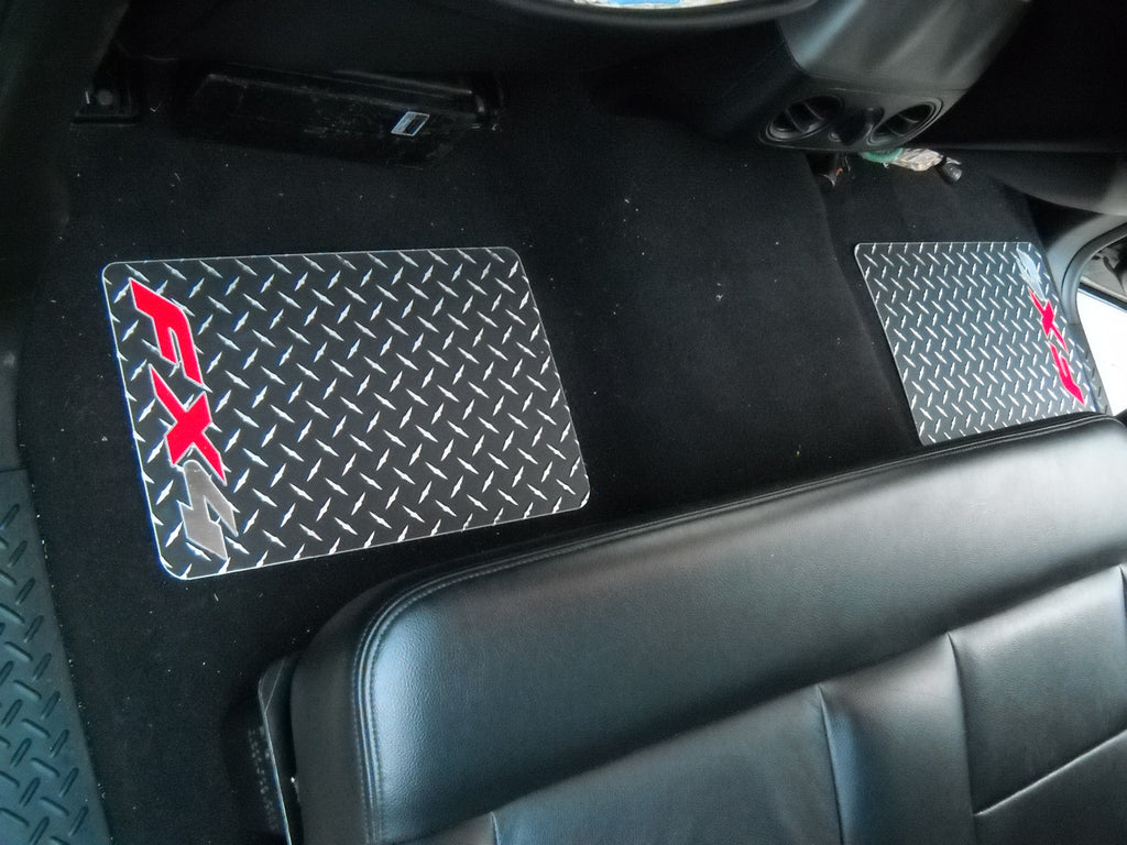 Ford F-150 04-08 Black metal diamond aluminum  floor mats