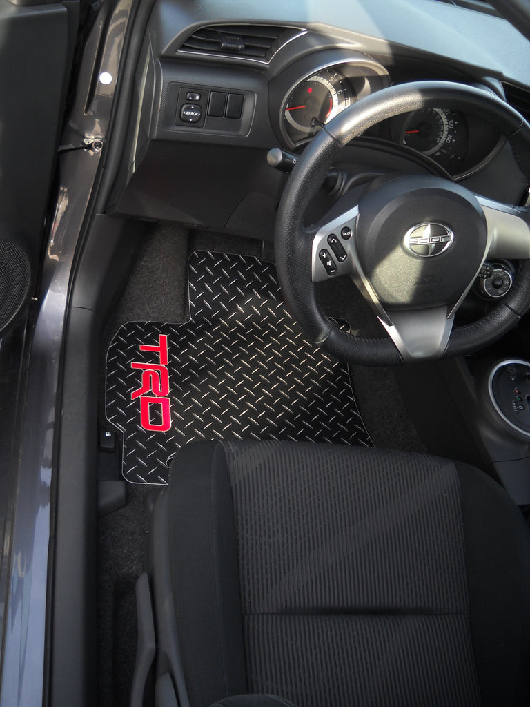 Scion TC 2 11-16  Black Metal diamond floor mats front set