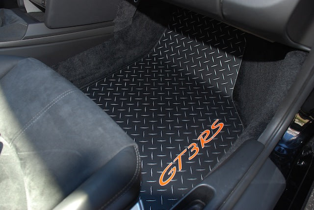 Porsche 911 GT3 GT3 RS  GTS   997 05-12 Black METAL  diamond aluminum floor mats