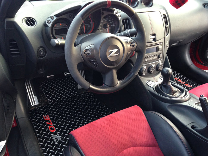 370Z 09-18 Z34  Black METAL diamond mats solid aluminum