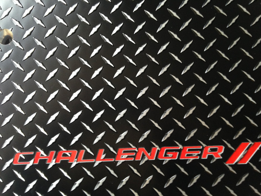 Challenger 11-20   black Metal  diamond aluminum mats  Custom fit front + rear