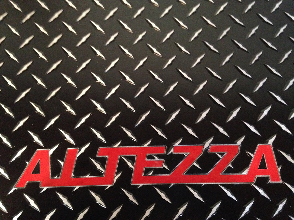 Altezza IS 300,  98-05  Black Metal diamond floor mats.  Real aluminum diamond plate