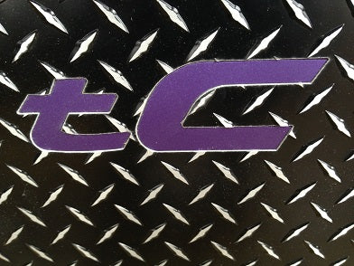 Scion TC 2 Black Metal diamond floor mats front set TC inlays