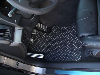 G37 coupe & sedan  Black diamond plate Metal floor mats Front set