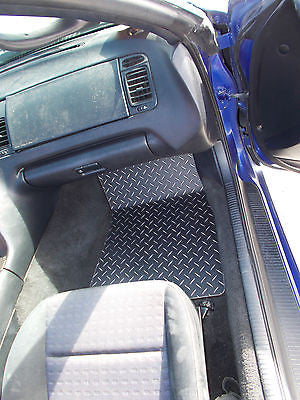 Supra 93-02   Aluminum diamond plate floor mats.  Driver and passenger side pair