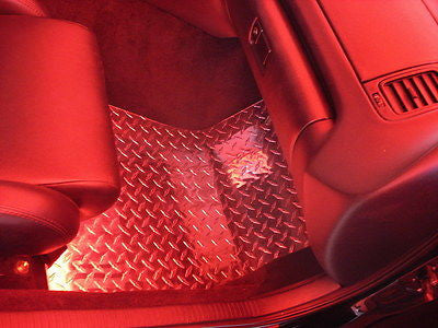 Supra  Aluminum diamond plate floor mats.  Driver and passenger side pair