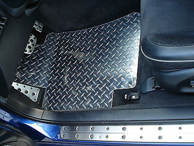 IS 300 Polished diamond plate  Metal floor mats front and rear