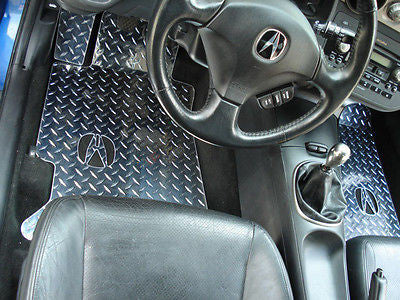 Acura RSX  Metal floor mats.  Shaped from diamond plate aluminum