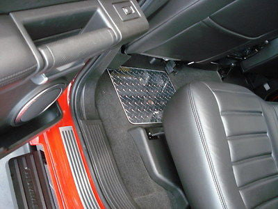 Hummer H2  Polished METAL floor mats front and rear