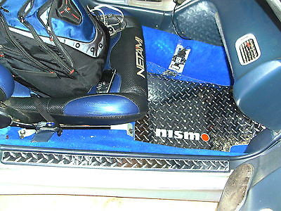 Nissan 240SX 89-97 diamond plate metal floor mats Bare Metal polished