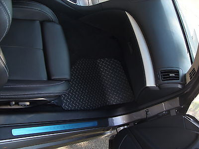 Infiniti G37 07-13 Coupe and sedan  Black diamond plate Metal floor mats