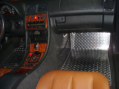 Mercedes-Benz CLK 96-03 Polished Metal floor mats