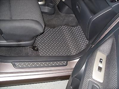 Scion xB 04-07 Black METAL diamond floor mats front rear set