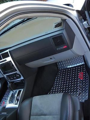 Chrysler 300 SRT8 05-10 Polished diamond plate metal floor mats.  Front rear