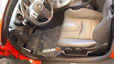 Nissan 350Z NISMO  2002-2008 aluminum floor mats Polished or black diamond
