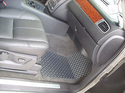 Chevrolet Avalanche 07-13   diamond plate METAL floor mats.  Custom shaped front + rears