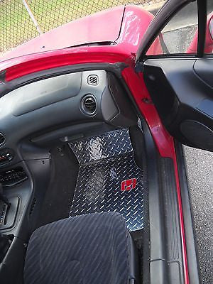 Honda Del Sol 93-01  Polished aluminum diamond tread plate floor mats
